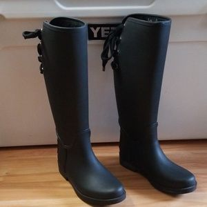 Coach Tristee Lace Back Waterproof Rainboots